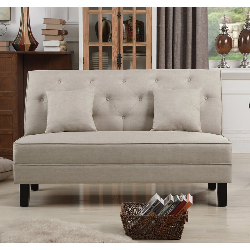 item chavianotufted threshold chaviano pearl low height trim products coaster profile loveseat width white tufted