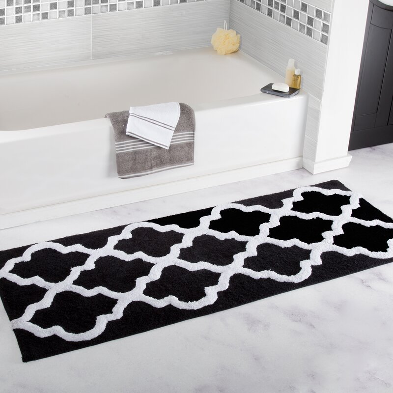 The Twillery Co Gard Trellis Cotton Bath Mat Amp Reviews