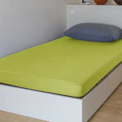 "Breathable And Waterproof Standard Fitted Sheet And Protector Bsensible Color: Green, Size: 80"" H X 60"" W X 12"" D"