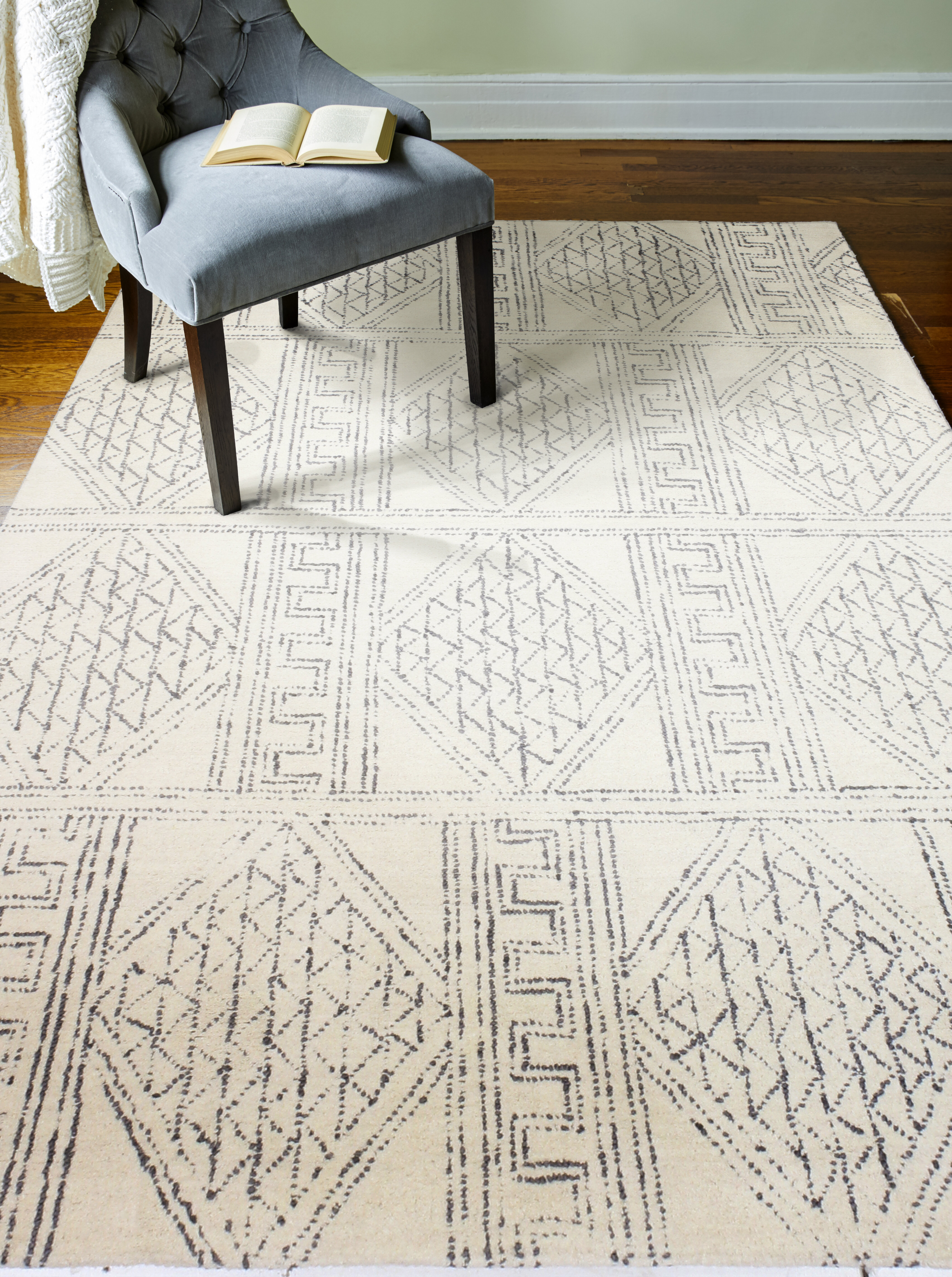 Mistana Kory Hand Tufted Wool Ivory Gray Area Rug Reviews Wayfair