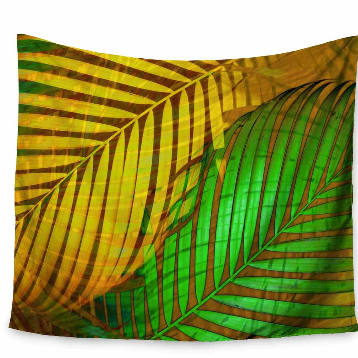 East Urban Home Pia Schneider Tropical Leaves Autumn Maple Tapestry ...