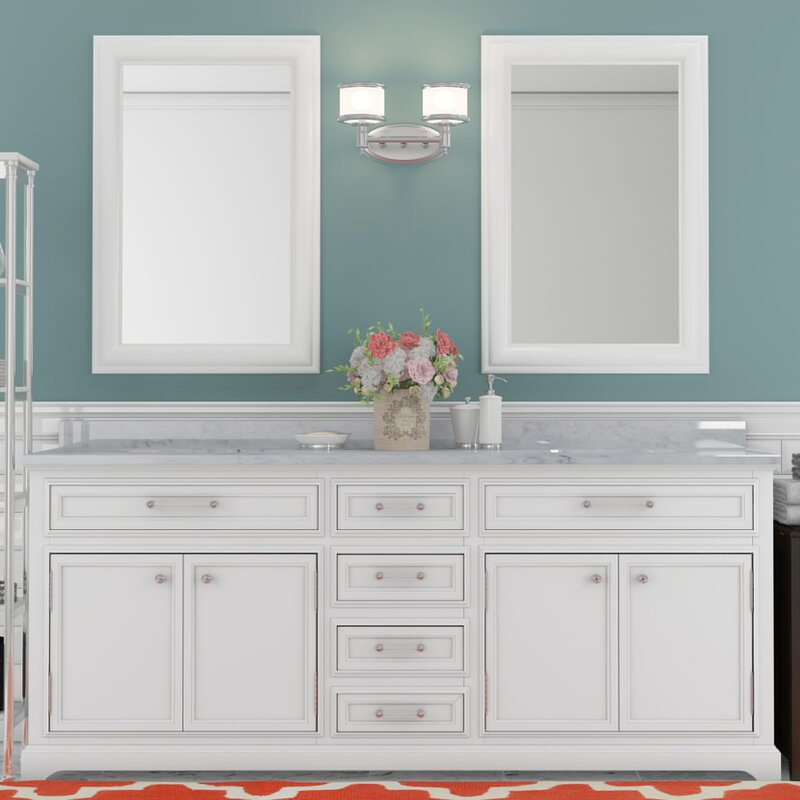 Darby Home Co Colchester  Double Sink Bathroom Vanity Set - 72 inch vanity double sink