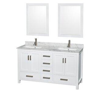 White Bathroom Vanity double vanities you'll love | wayfair