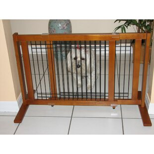 Beau Freestanding Wood U0026 Wire Pet Gate