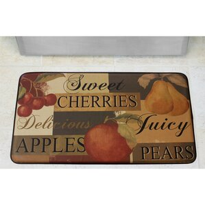 Scrumptious Fruit Printed Anti Fatigue Chef Kitchen Mat