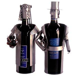 Bride and Groom 2 Bottle Tabletop Wine Rack