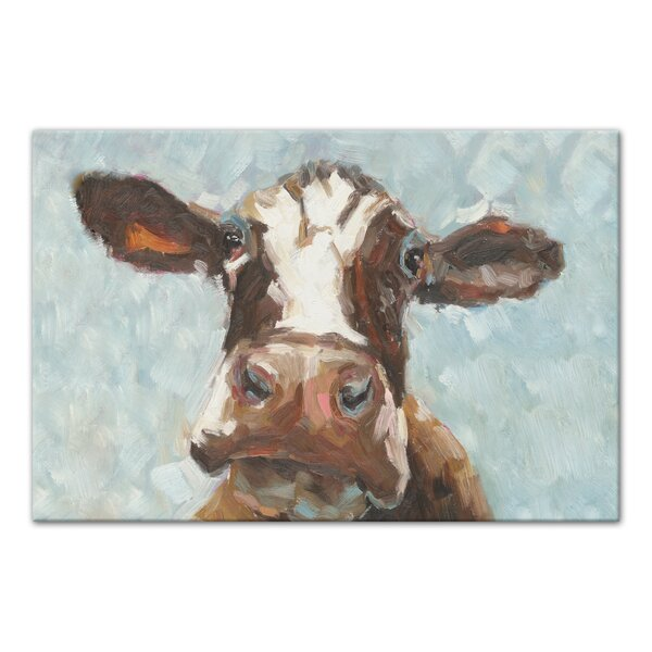 Curious Cow Acrylic Painting Print On Canvas Amp Reviews Joss Amp Main