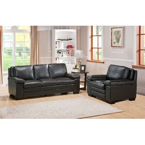 Devry 2 Piece Leather Living Room Set by Wor..