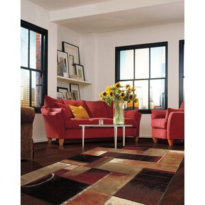 claireville brownred area rug