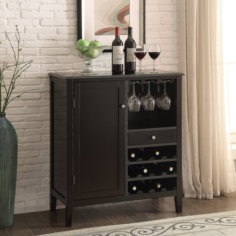 Homestyle Collection Cabernet Mini Bar With Wine Storage Reviews Wayfair