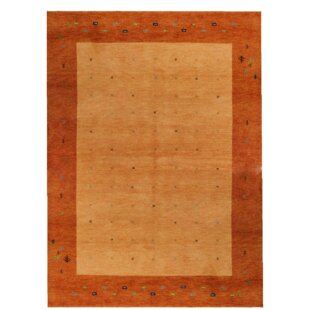 Indo Gabbeh Daria Hand Knotted Wool Rust Rug by Parwis