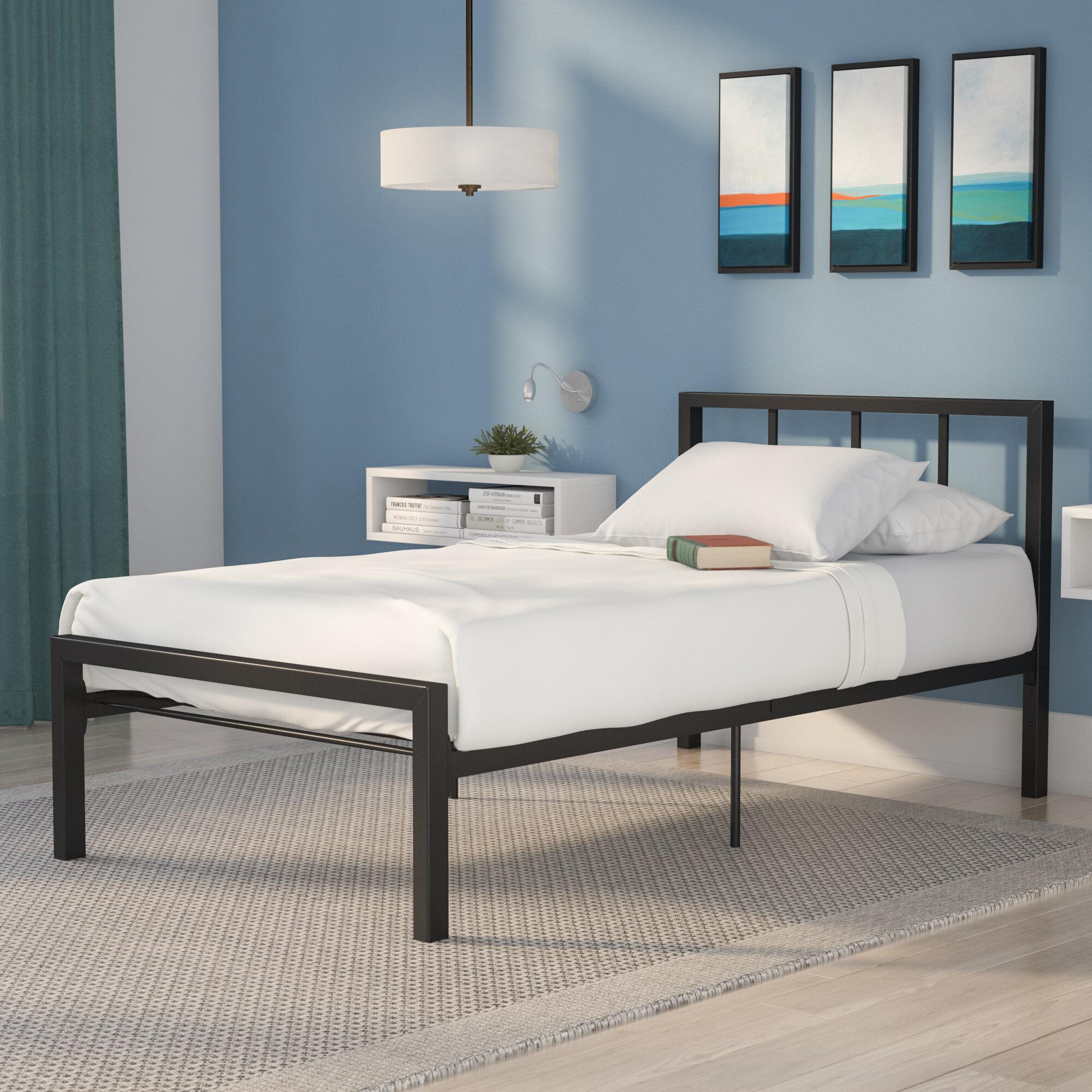 Twin platform bed frame Steel Kidspointinfo Zipcode Design Martinique Twin Platform Bed Reviews Wayfair