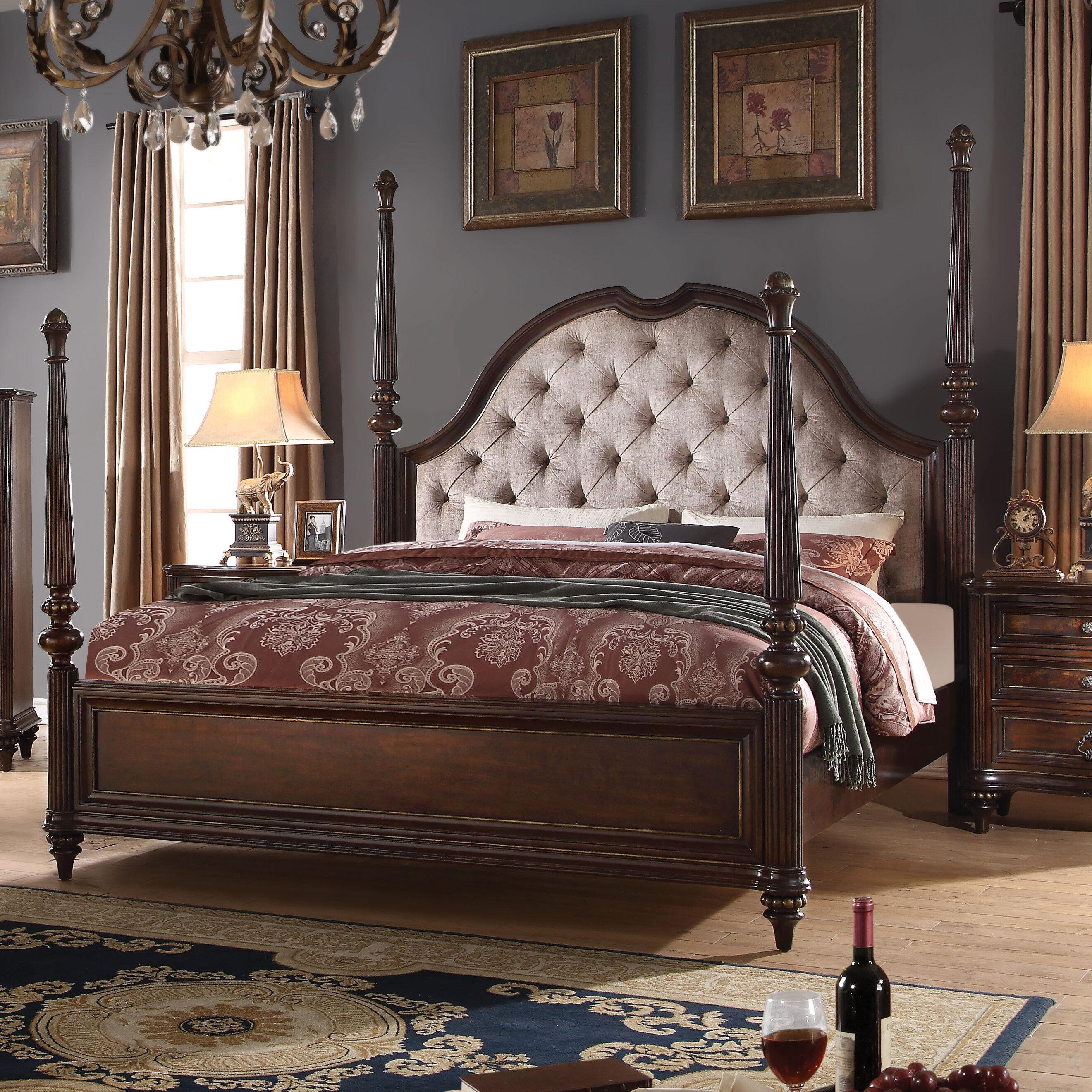 Superb Wentzel Upholstered Four Poster Bed