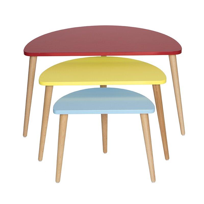 Mid Century Modern 3 Piece Nesting Tables