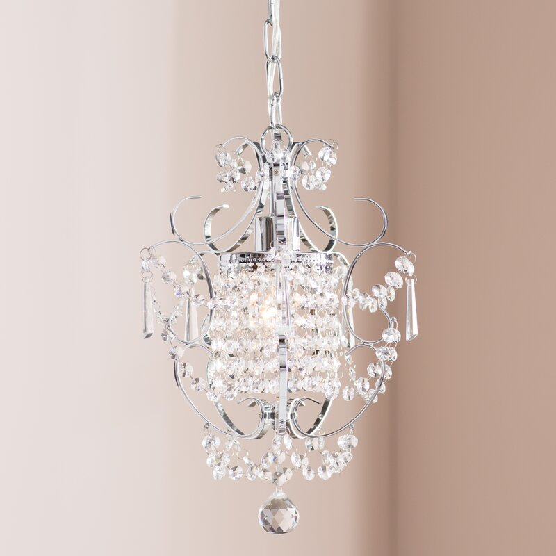 Gates 1-Light Crystal Pendant & Willa Arlo Interiors Gates 1-Light Crystal Pendant u0026 Reviews | Wayfair
