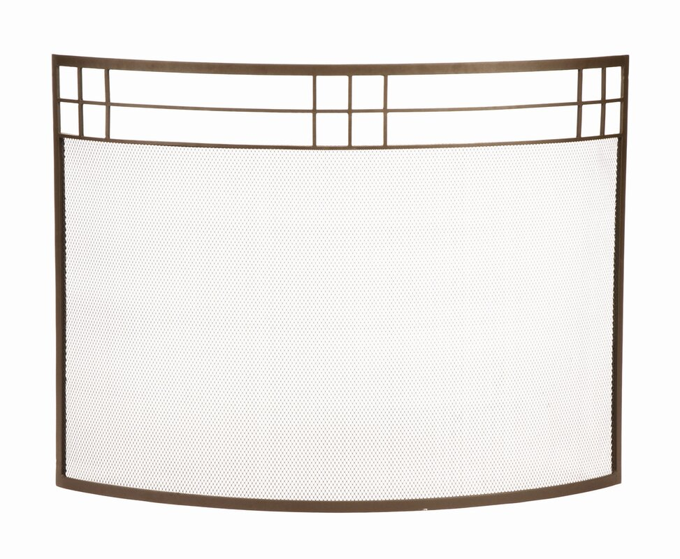 Minuteman Arts and Crafts Curved Wrought Iron Fireplace Screen ...