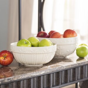 Genesee 2 Piece Stoneware Serving Bowl Set