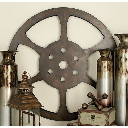 Metal Movie Reel Wall Décor