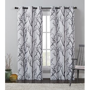 Buy Southold Nature / Floral Max Blackout Grommet Single Curtain Panel!