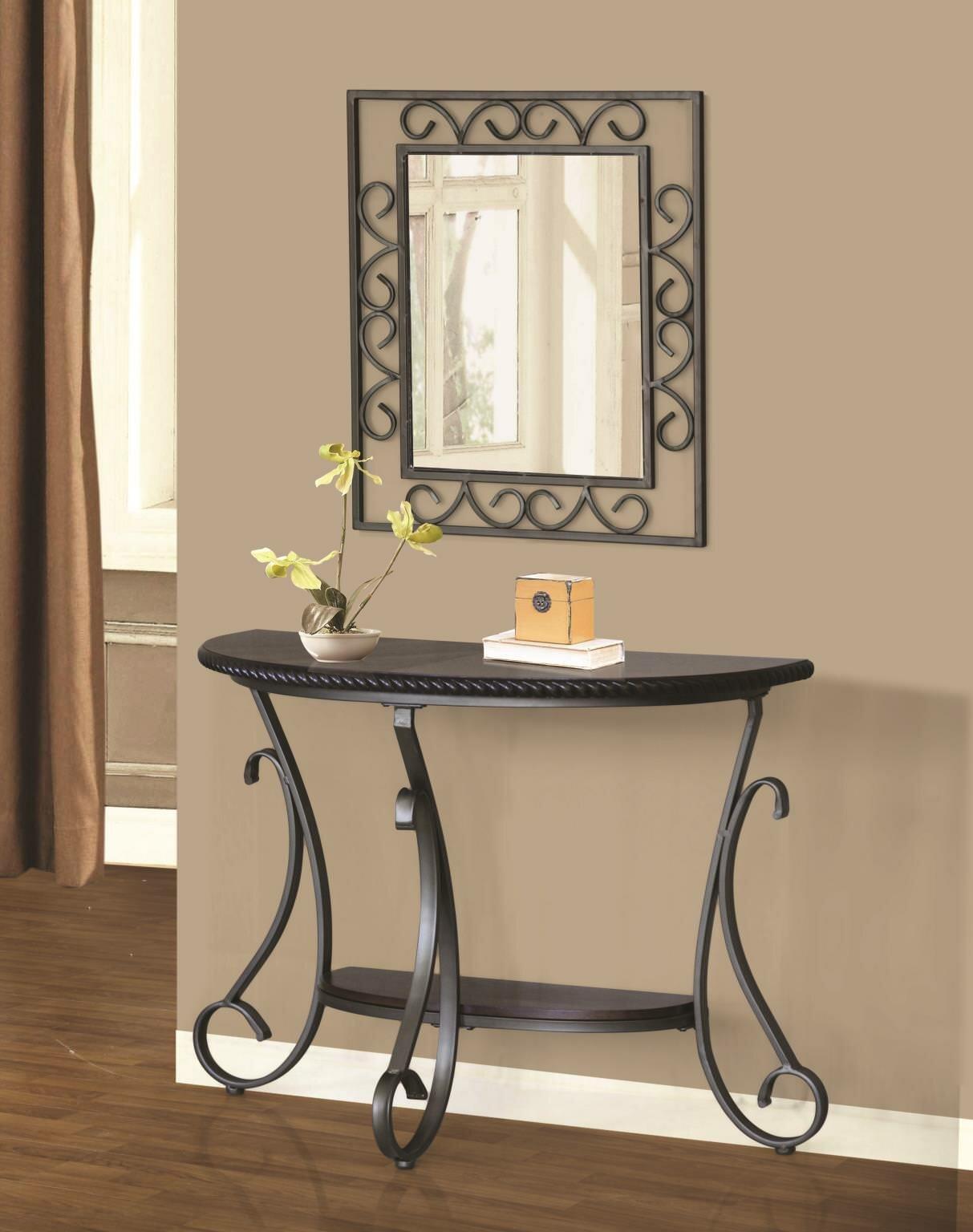 Thomaston Half Moon Console Table And Mirror Set