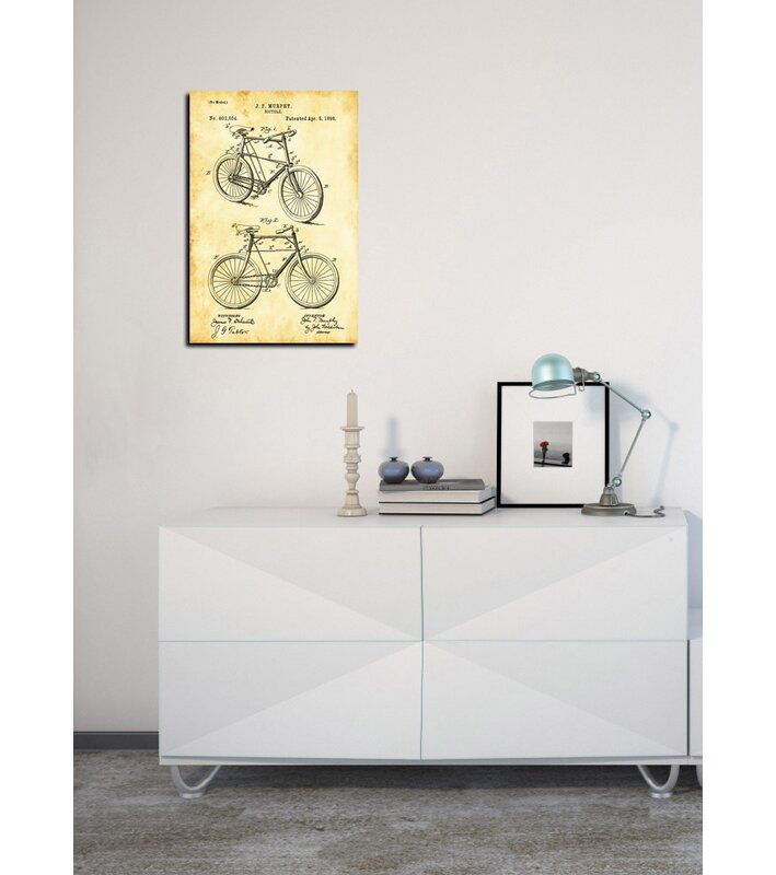Cortesi home bicycle vintage patent blueprint graphic art on canvas bicycle vintage patent blueprint graphic art on canvas malvernweather Image collections
