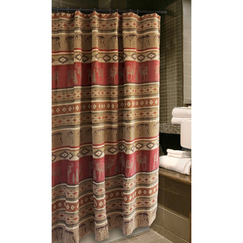 Loon Peak Lamoureux Bear And Moose Cabin Shower Curtain