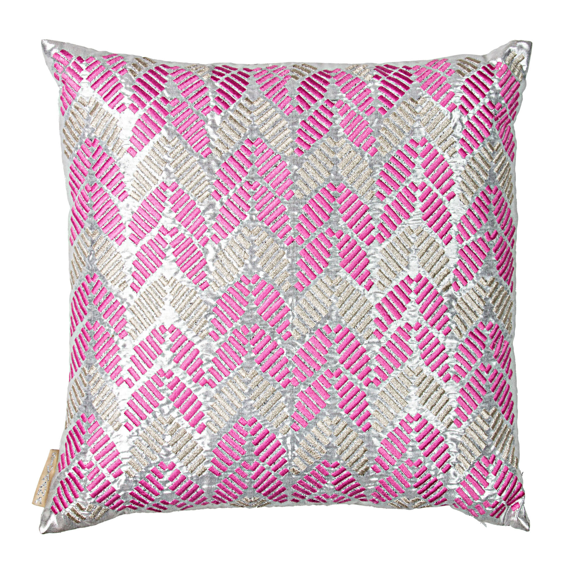Sivaana Hand Embroidered Leaves Throw Pillow | Wayfair