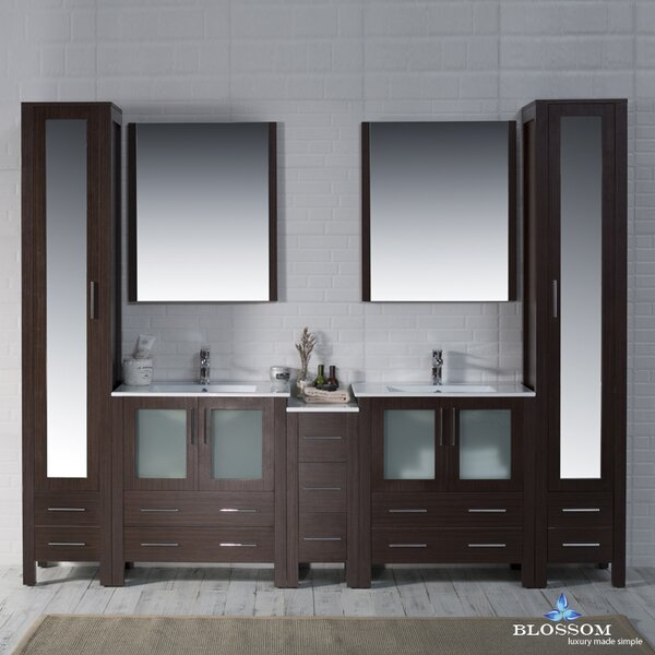 Orren Ellis Mance 102 Quot Double Bathroom Vanity Set