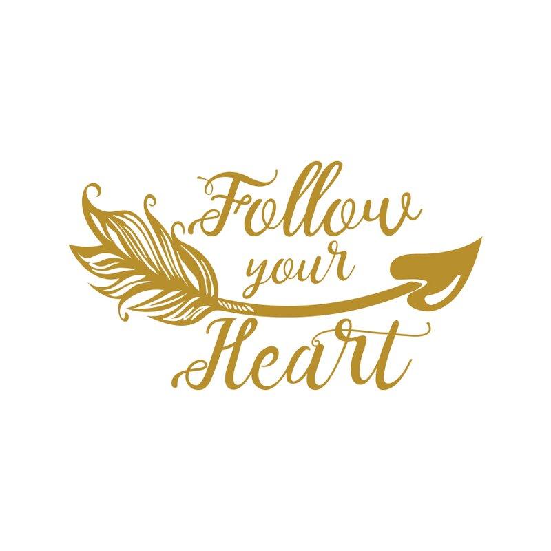 Decal House \'Follow Your Heart Wall\' Vinyl Boho Arrow Nursery Quotes ...