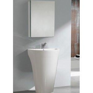 Parma 23″ Single Pedestal Modern Bathroom Vanity Set with Mirror
