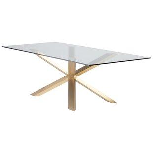 Boler Rectangular Gl Top Dining Table