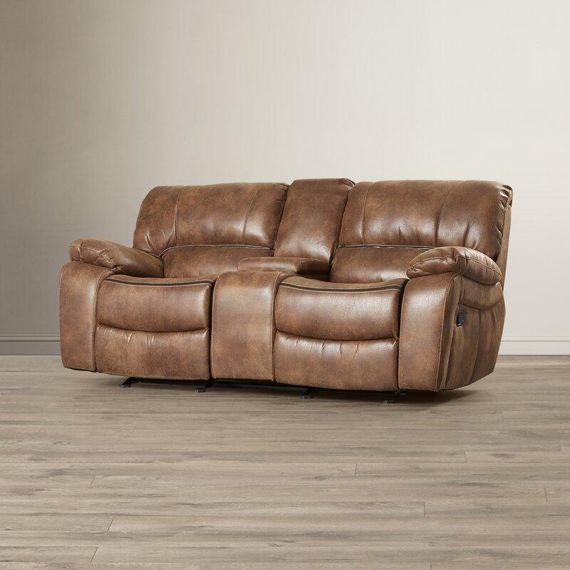 Sectional Couch Hattiesburg Ms: Red Barrel Studio Hattiesburg Dual Rocking Reclining Sofa