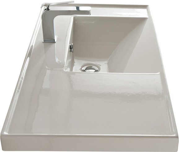 ML Ceramic Rectangular Drop-In Bathroom Sink with Overflow ...