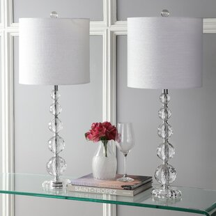 Crystal Glass Clear Table Lamps You Ll Love Wayfair