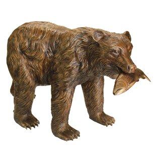 Merveilleux Fisherman Bear Garden Statue