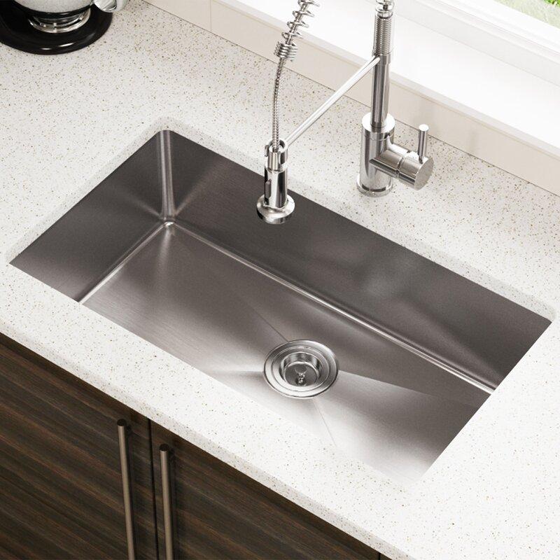 Stainless Steel Undermount Kitchen Sinks Reviews Mrdirect stainless steel 31 x 18 single undermount kitchen sink stainless steel 31 x 18 single undermount kitchen sink workwithnaturefo