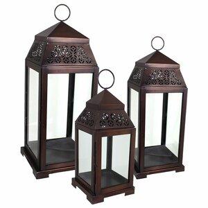 3 Piece Metal Lantern Set