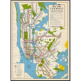 1949 new york subway map new york united states graphic art