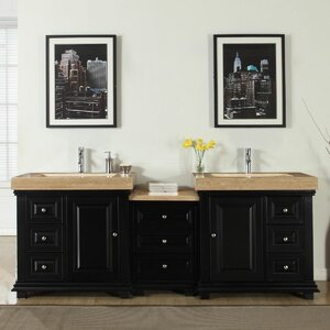 90″ Double Sink Modern Bathroom Vanity Set