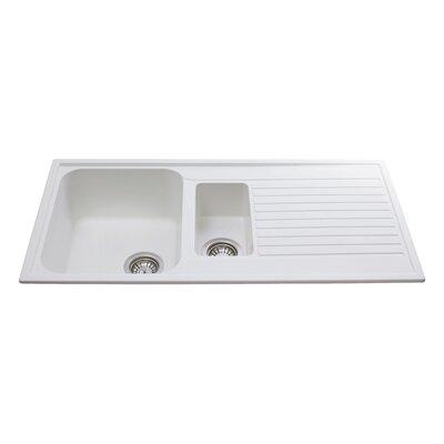 CDA 99cm x 50cm 1.5 Bowl Inset Kitchen Sink | Wayfair.co.uk