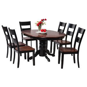 Maryrose 7 Piece Solid Wood Dining Set with Oval Table by Darby Home Co