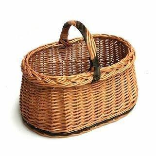 Wicker Basket With Handle Wayfaircouk