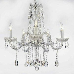 Meredith 5-Light 40W Chain Crystal Chandelier