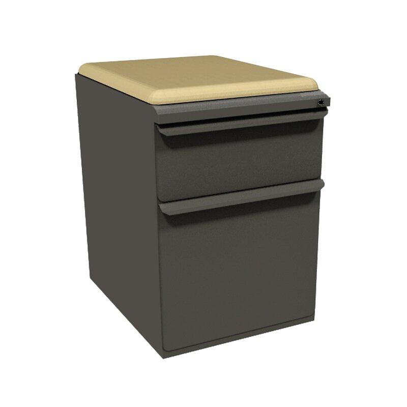 Superbe Zapf 2 Drawer Mobile Pedestal File Cabinet