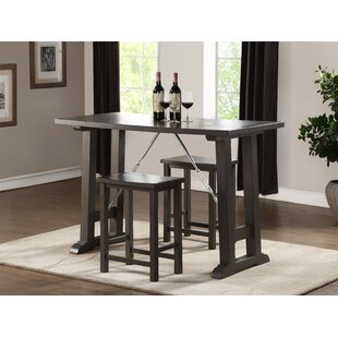 Claribel Counter Height 3 Piece Pub Table Set