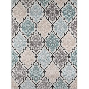 Kinsley Teal/Black Area Rug