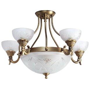 Art deco ceiling light wayfair classic 8 light semi flush ceiling light mozeypictures Images