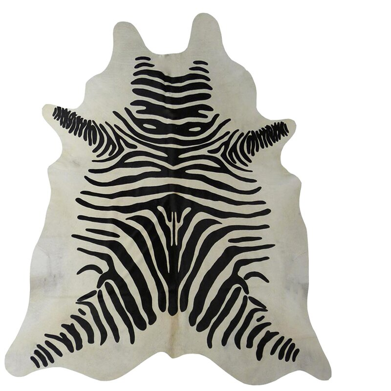 Chesterfield Leather Stenciled Zebra Brazilian Cowhide