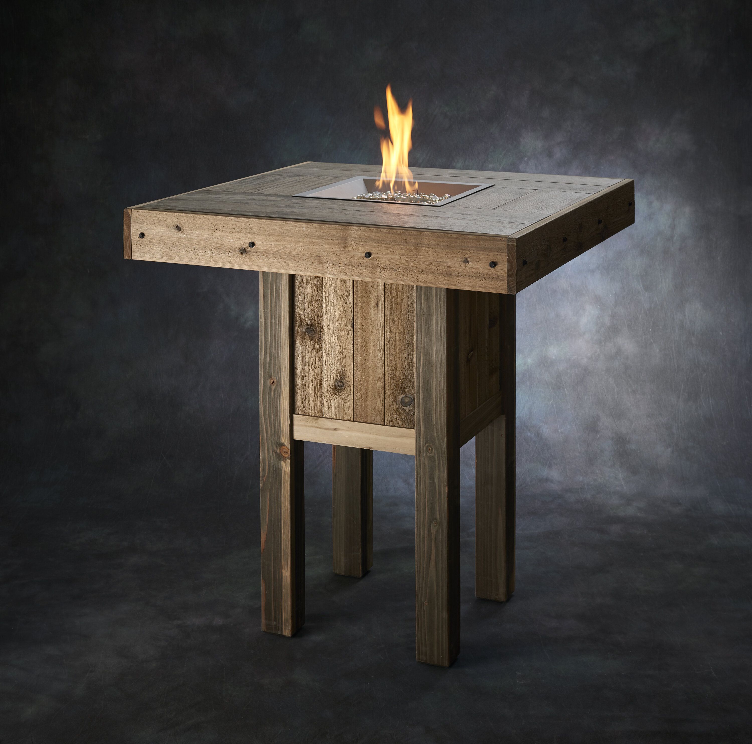 The Outdoor Greatroom Company Westport Pub Wood Gas Fire Pit Table