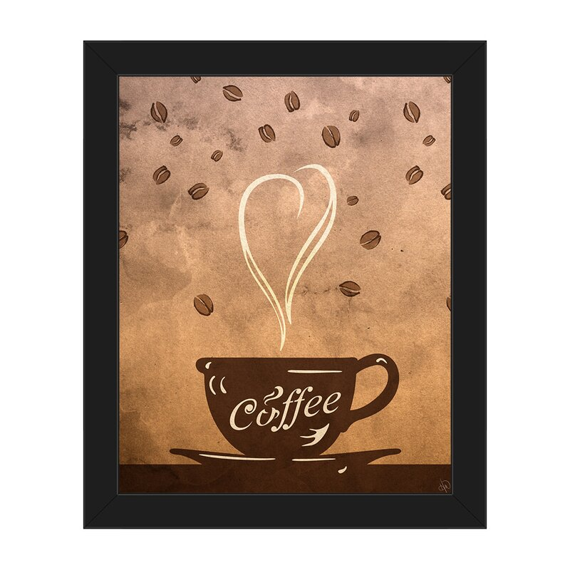 Click Wall Art Cup Of Coffee Framed Painting Print On Canvas Wayfair